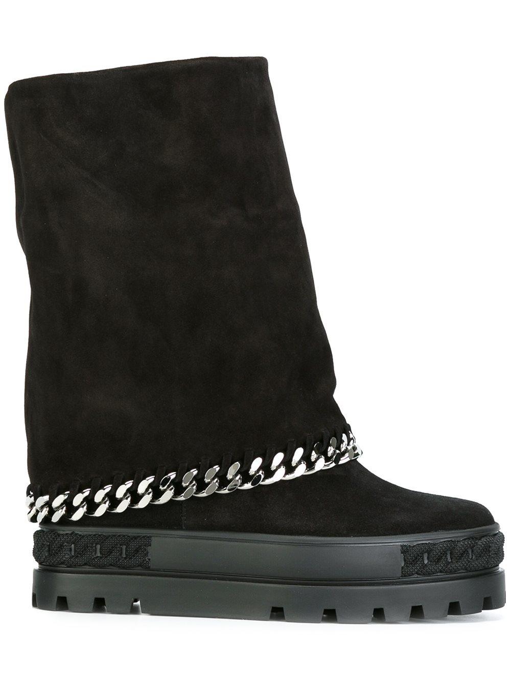 Casadei Double Rubber Sole Sneakers In Black Lyst
