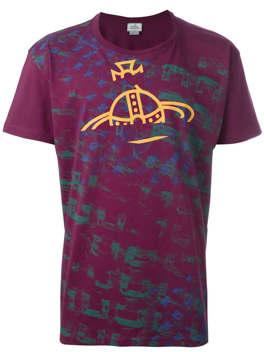 Vivienne westwood logo print t shirt for men lyst for Lands end logo shirts