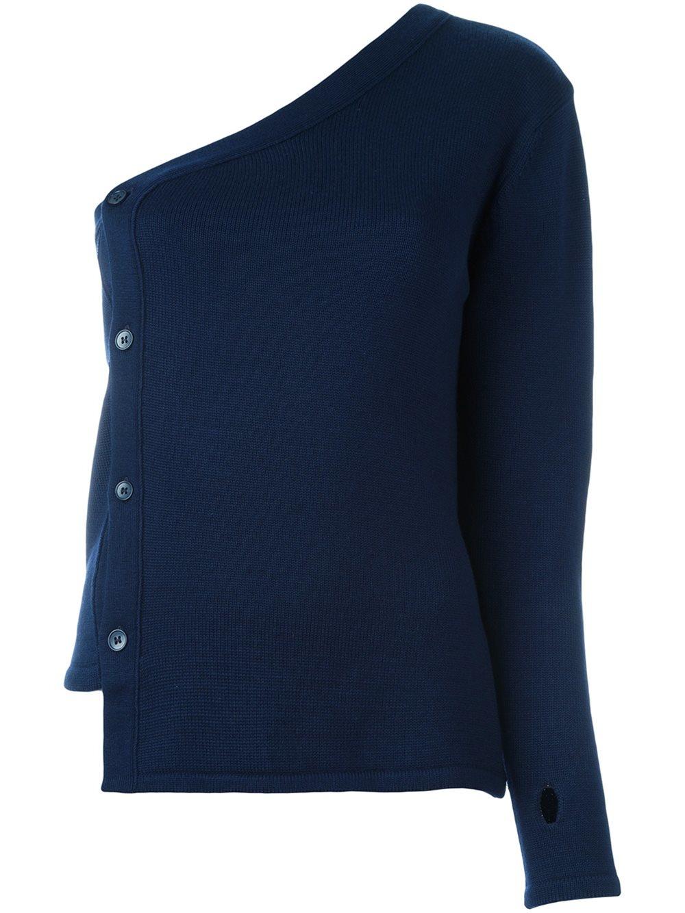 jacquemus one shoulder sweater in blue lyst. Black Bedroom Furniture Sets. Home Design Ideas