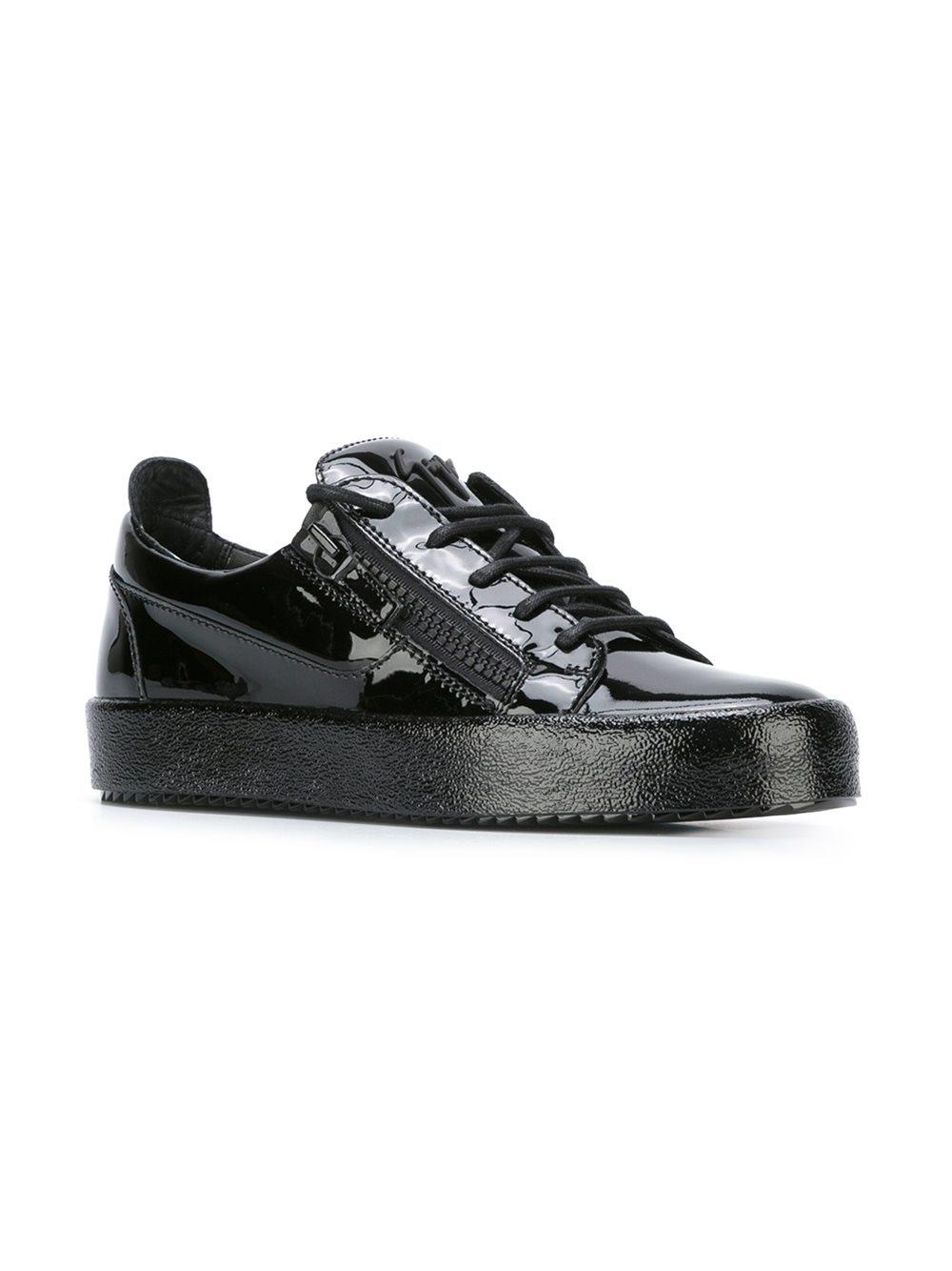 Giuseppe Zanotti Leather 'Vegas' Low-top Sneakers in Black for Men