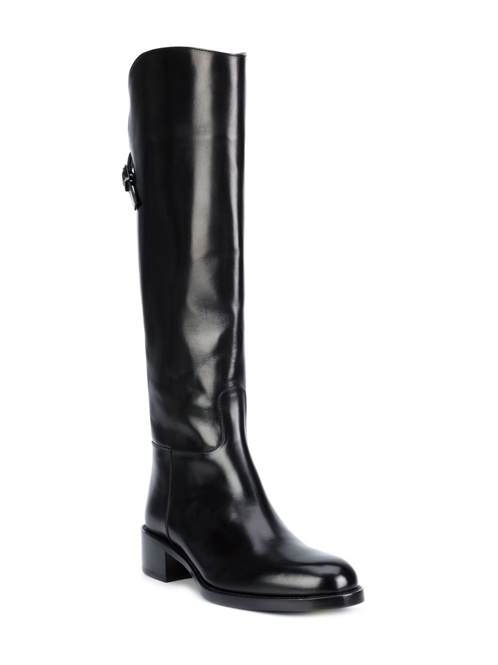 Sartore Leather Knee Length Boots in Black