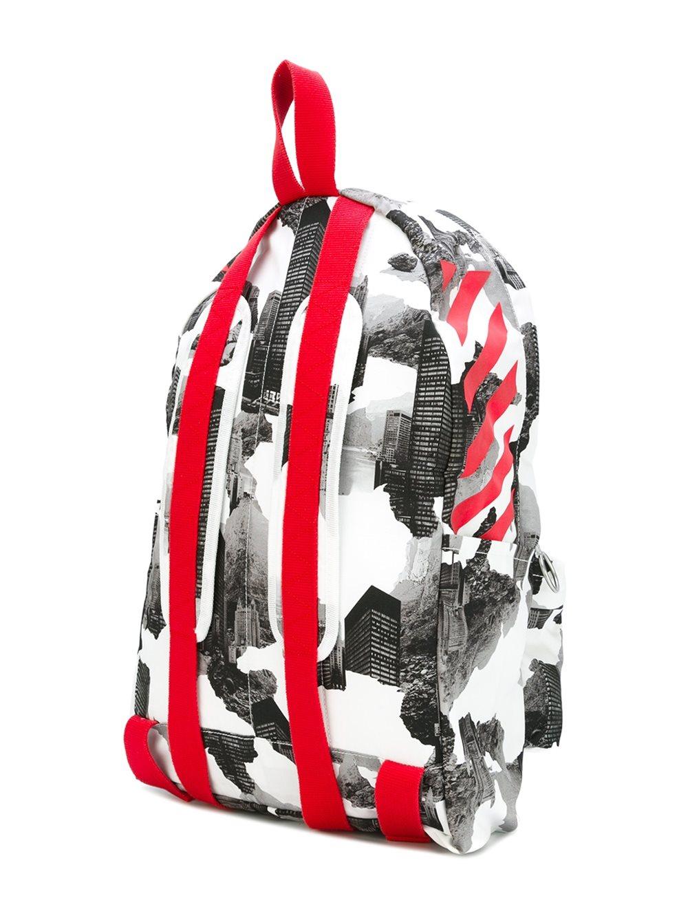 off white c o virgil abloh building print backpack in. Black Bedroom Furniture Sets. Home Design Ideas