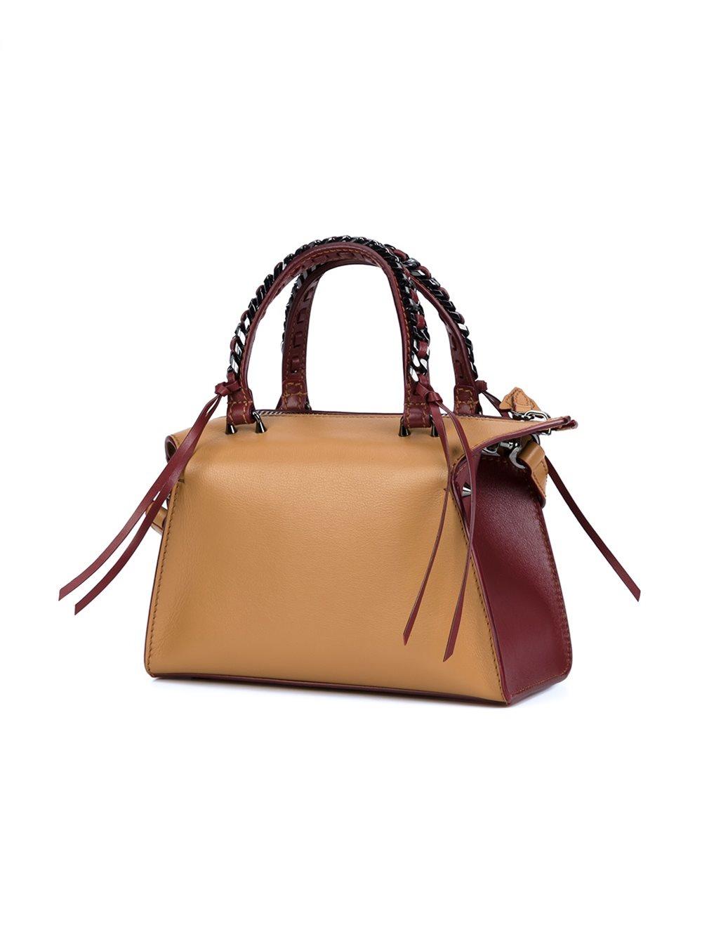Elena Ghisellini Leather Mini 'gabria' Tote