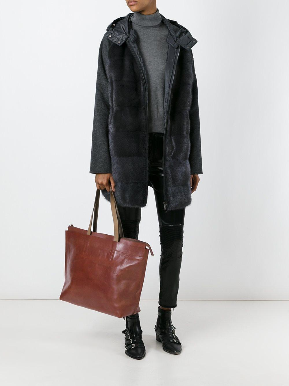 Ally Capellino Leather Large 'wintour' Tote Bag in Brown