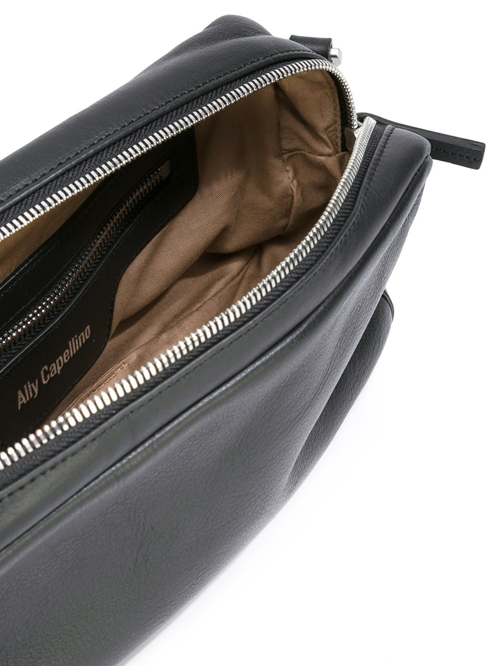Ally Capellino Leather 'amy' Crossbody Bag in Black
