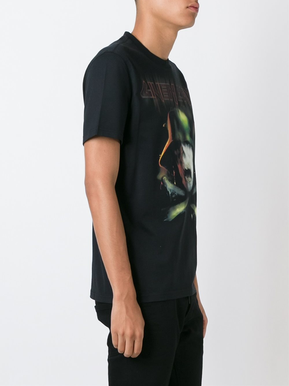 Givenchy logo print t shirt men cotton m in black for Givenchy t shirt man