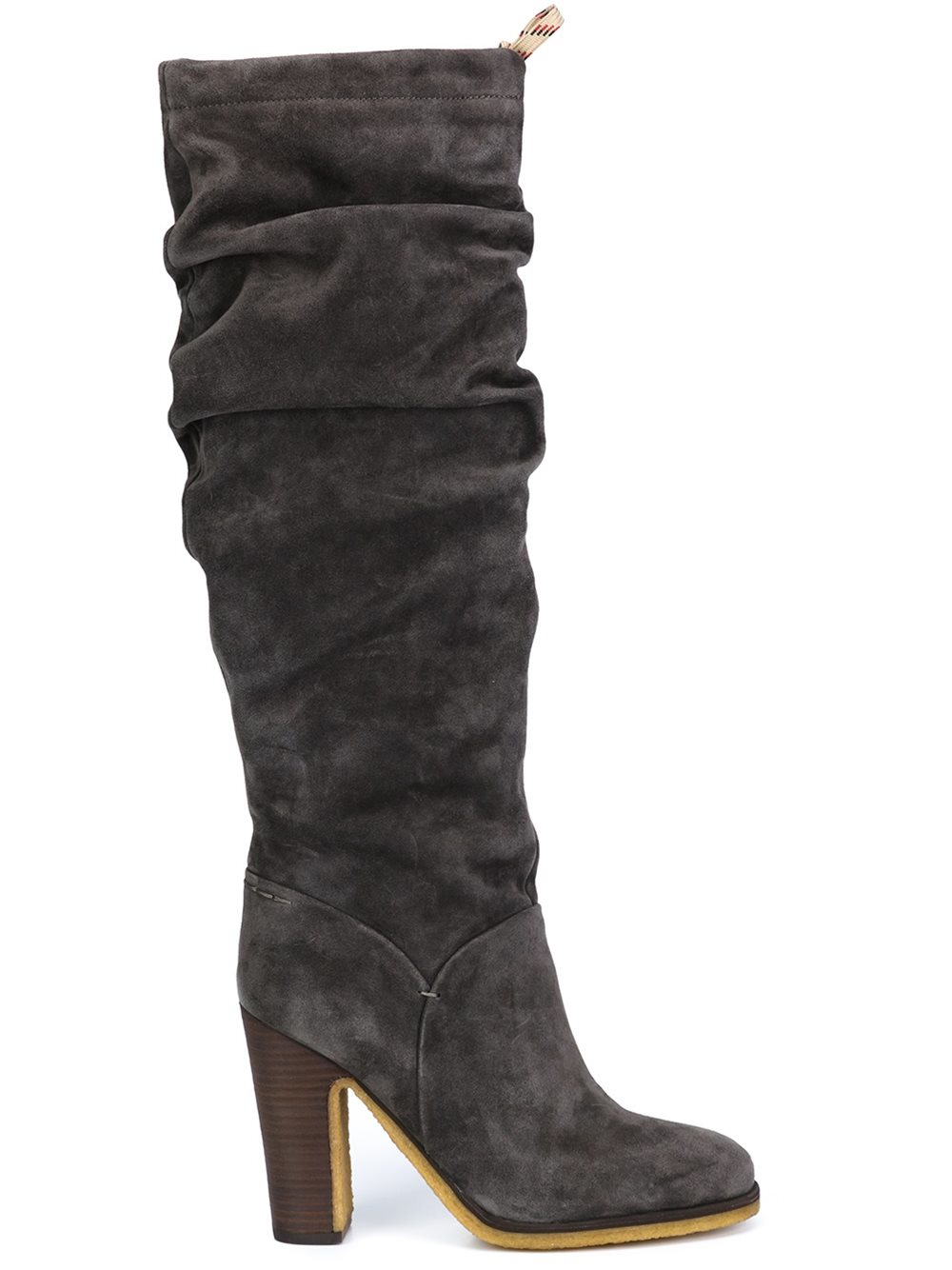 lyst see by chlo jona slouchy knee boots in gray. Black Bedroom Furniture Sets. Home Design Ideas