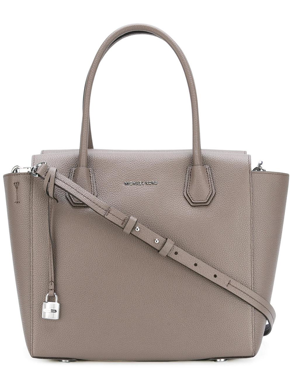 michael michael kors shopper tote in gray lyst. Black Bedroom Furniture Sets. Home Design Ideas