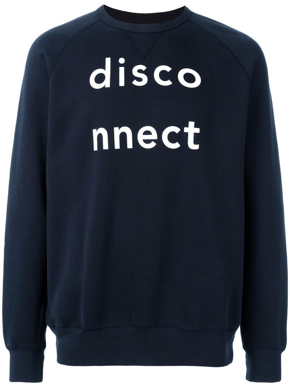 Lyst - WOOD WOOD  disconnect  Sweatshirt in Blue for Men d0124ce4d3