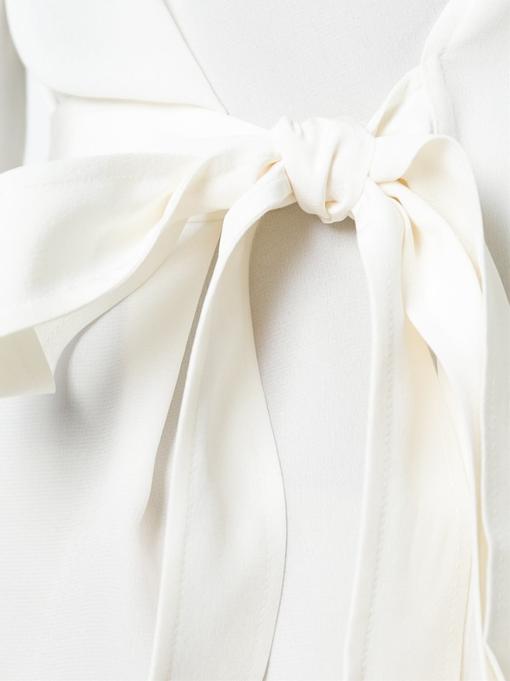 White Side Tie Blouse 112