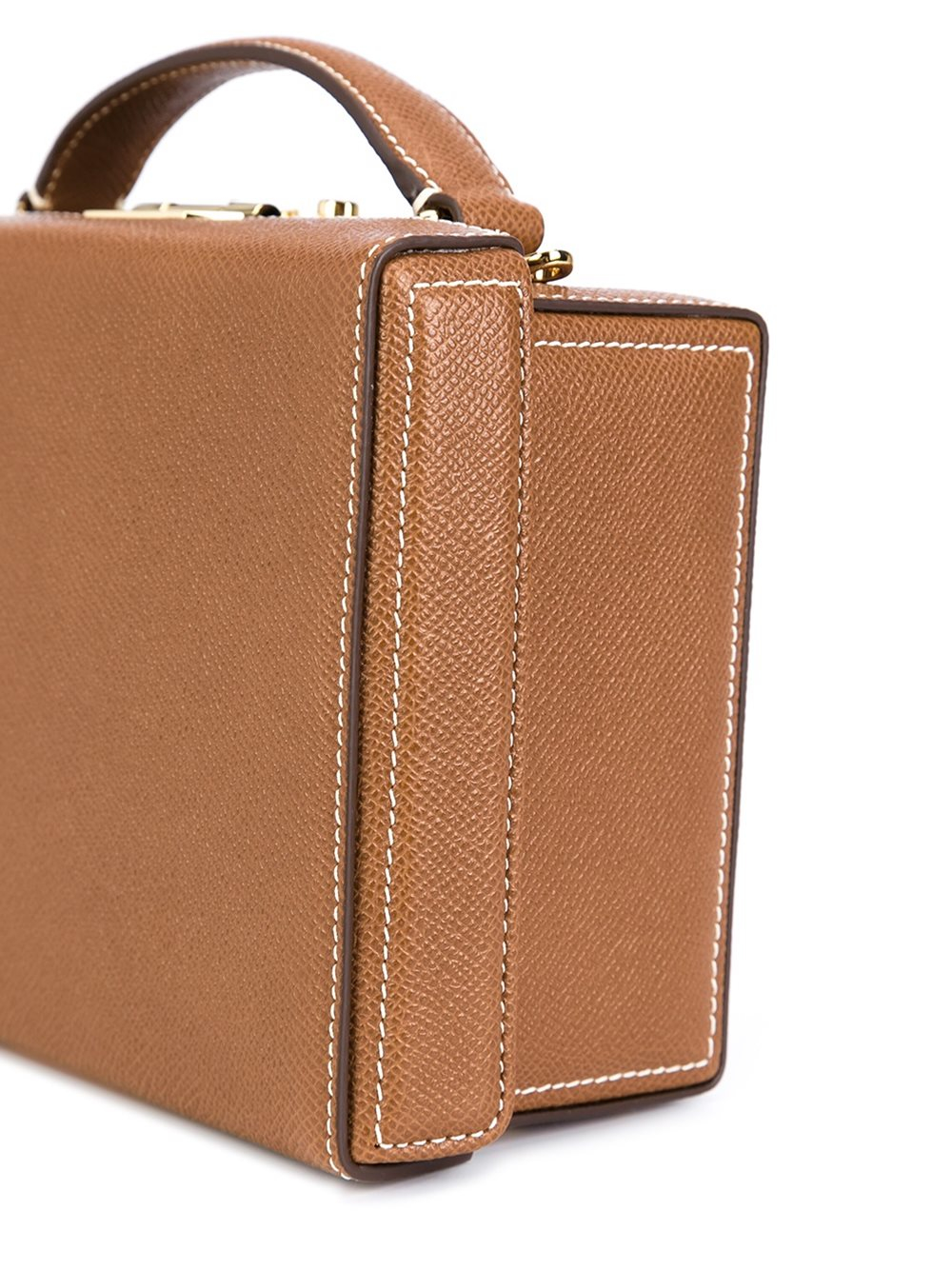 Mark Cross Grace Leather Box Bag in Brown