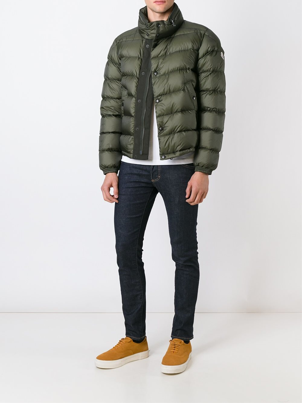 Moncler Synthetic 'boris' Padded Jacket in Green (Blue) for Men