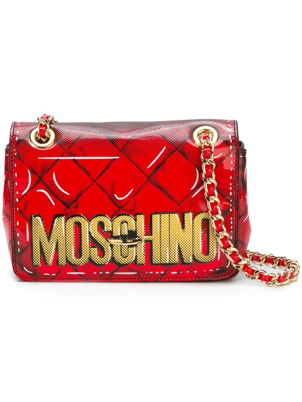 Lyst Moschino Shoulder Bag In Red