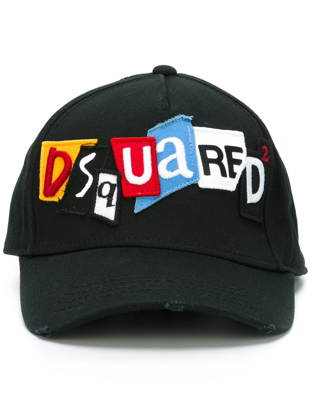 d9a0b4bee62 DSquared² Newspaper Collage Baseball Cap in Black for Men - Lyst