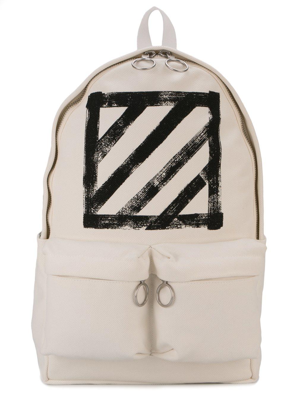 off white c o virgil abloh brushed diagonals backpack in. Black Bedroom Furniture Sets. Home Design Ideas