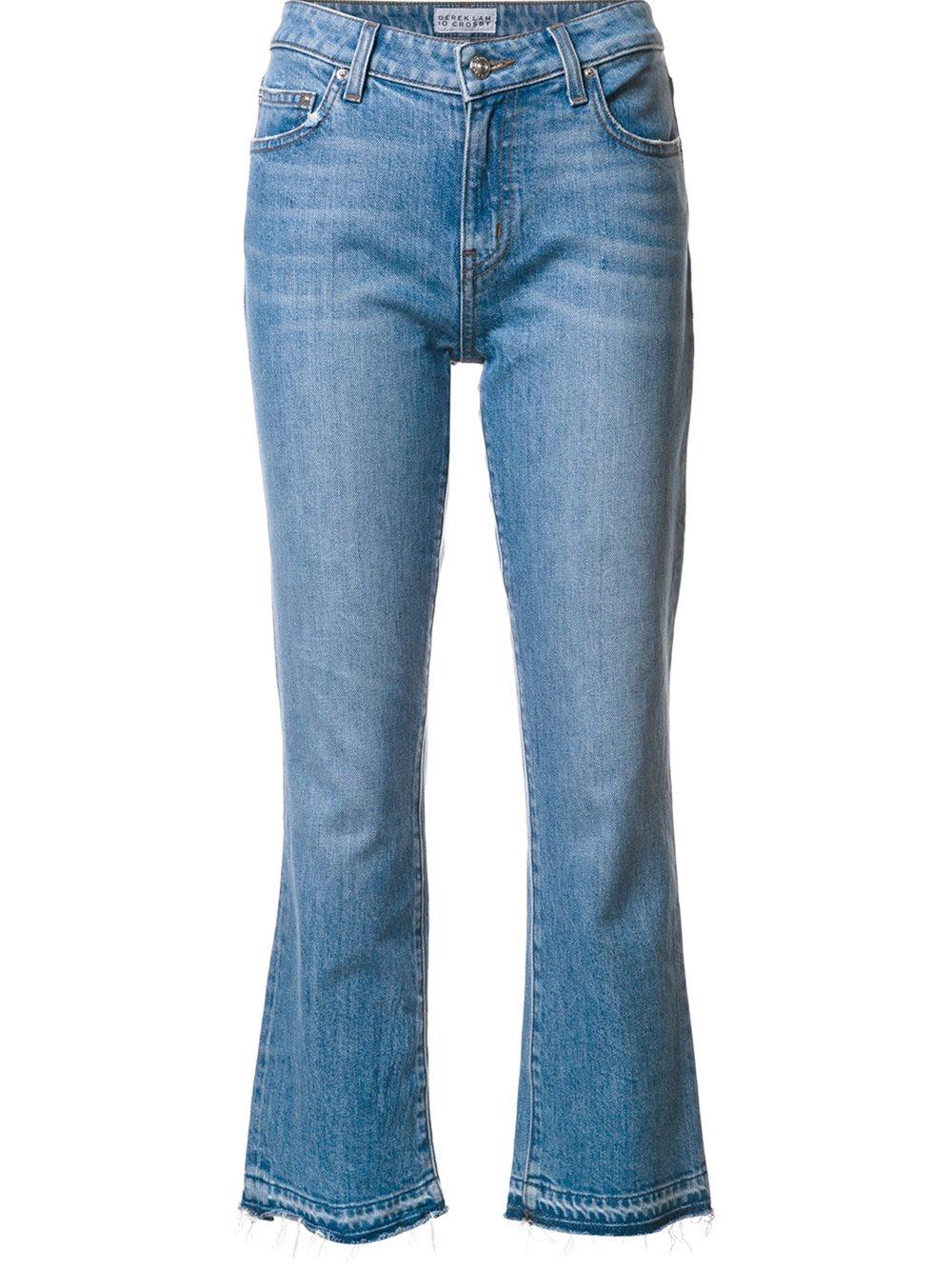 10 crosby derek lam cropped flare jeans in blue lyst. Black Bedroom Furniture Sets. Home Design Ideas