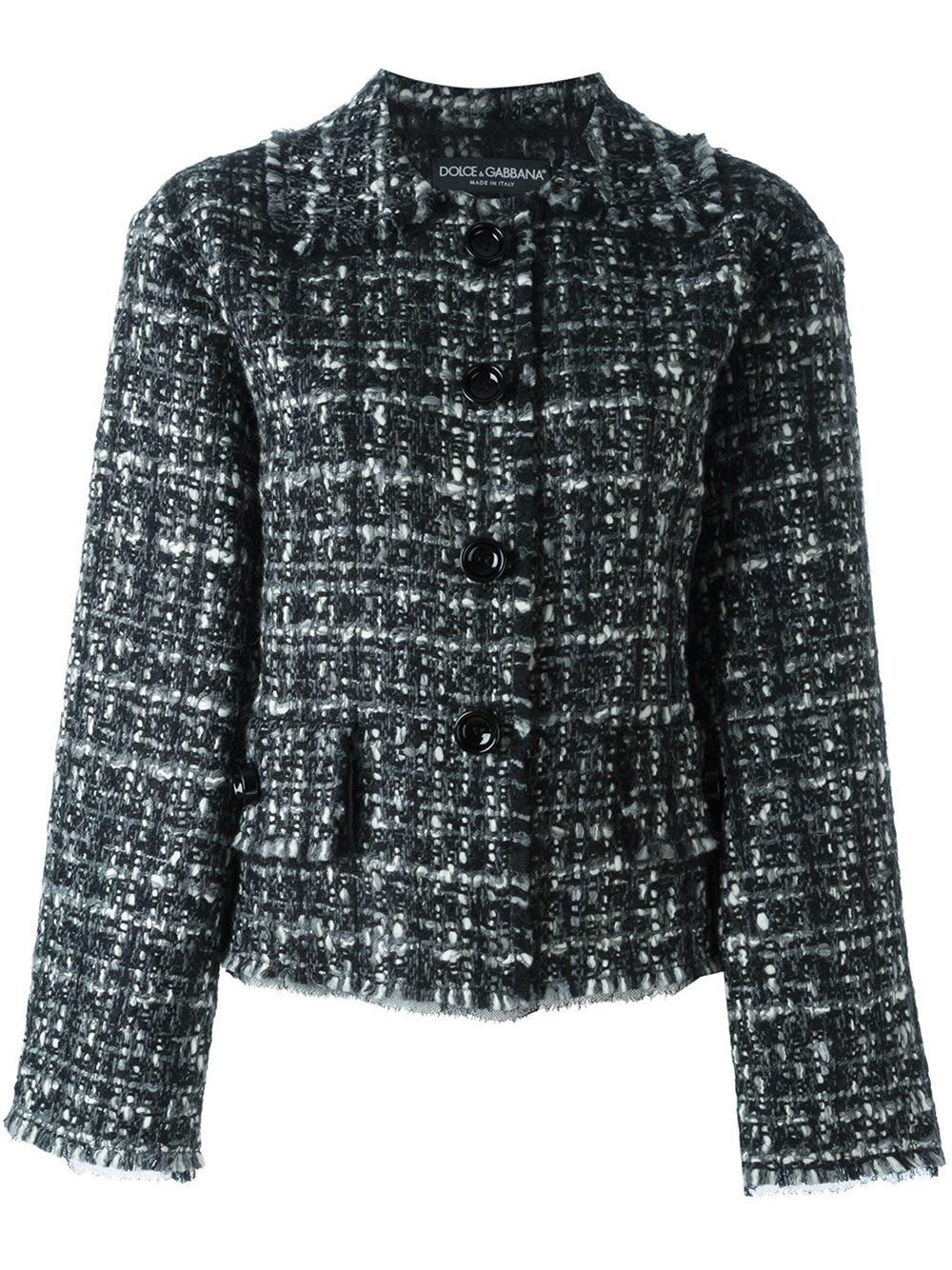 Lyst Dolce Amp Gabbana Tweed Jacket In Black
