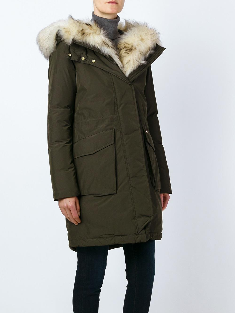 lyst woolrich 39 w 39 s military 39 parka in blue. Black Bedroom Furniture Sets. Home Design Ideas