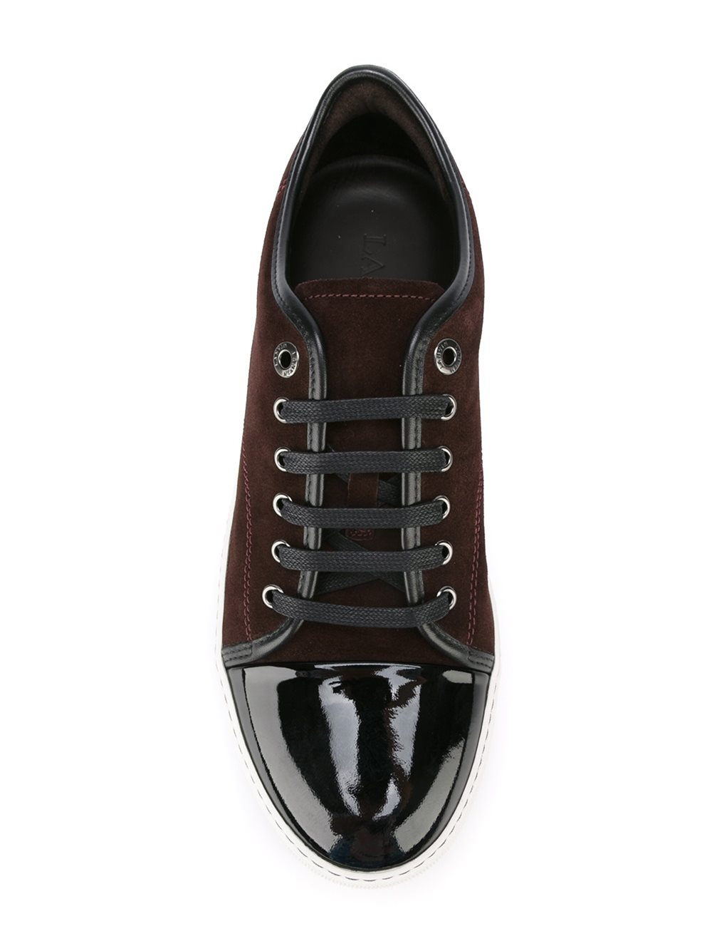 Lyst Lanvin Toe Cap Sneakers In Black For Men