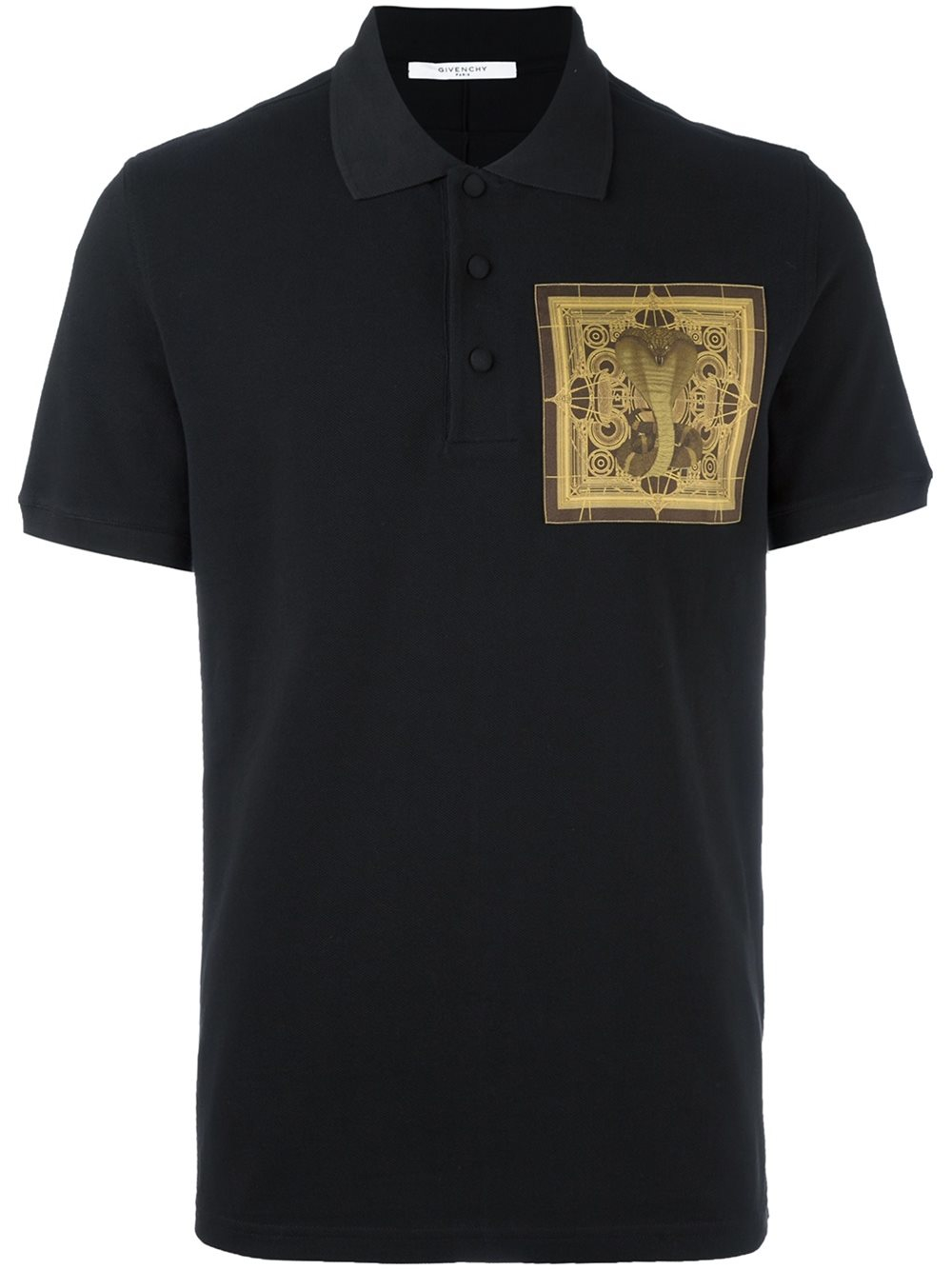 Lyst givenchy cobra print polo shirt in black for men for Polo shirts for printing
