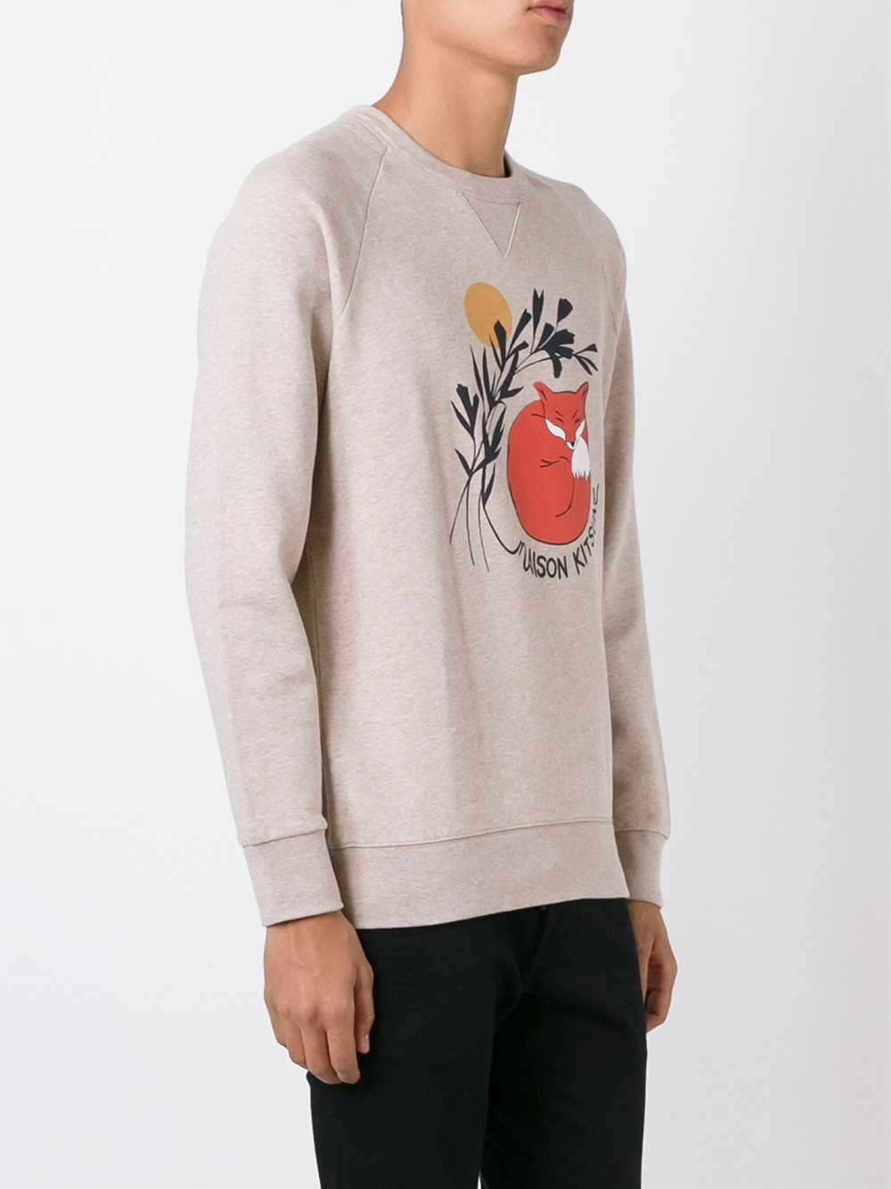 Maison Kitsun Maison Kitsun Sleeping Fox Print Sweater -5986