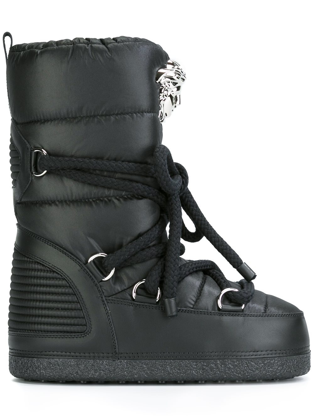 Versace Leather 'palazzo' Snow Boots in