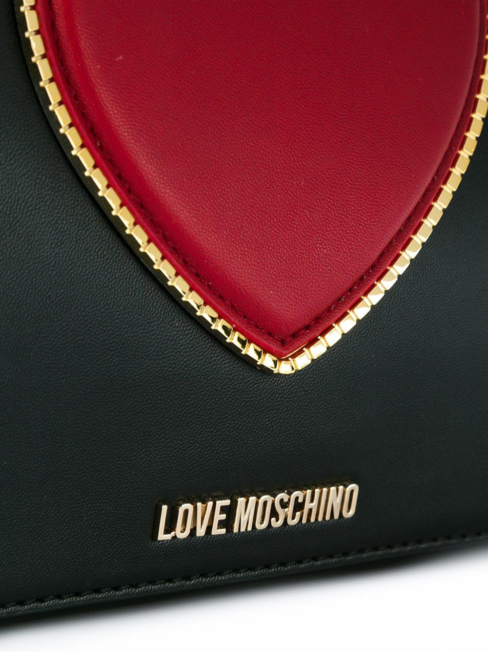 Love Moschino Heart Crossbody Bag in Black