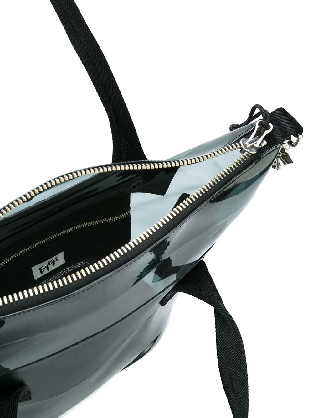 Eytys Transparent Tote Bag in Black