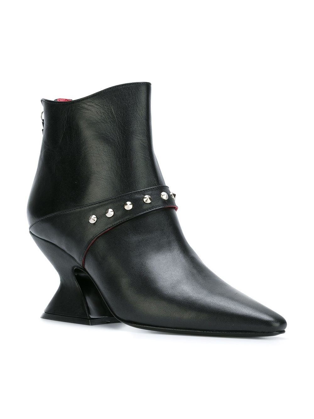 Dorateymur Leather 'radio' Ankle Boots in Black