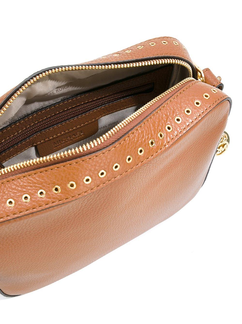 MICHAEL Michael Kors Leather 'brooklyn' Crossbody Bag in Brown
