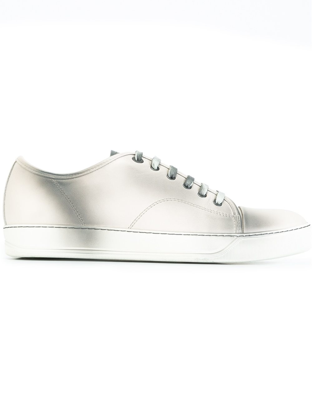 lanvin low top spray paint sneakers in white for men lyst. Black Bedroom Furniture Sets. Home Design Ideas