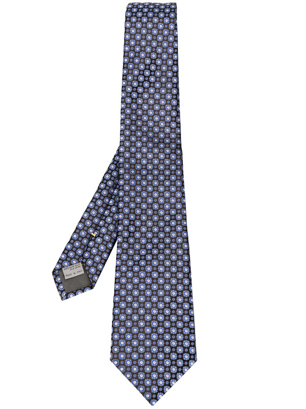 Canali floral embroidered tie in blue for men lyst