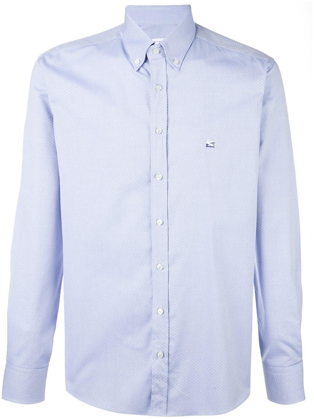 Lyst etro plain shirt in blue for men for Etro men s shirts