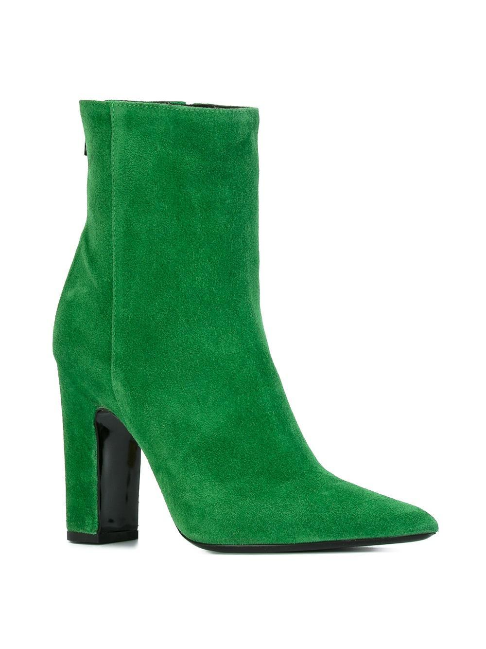 Barbara Bui Suede Ankle Boots in Green