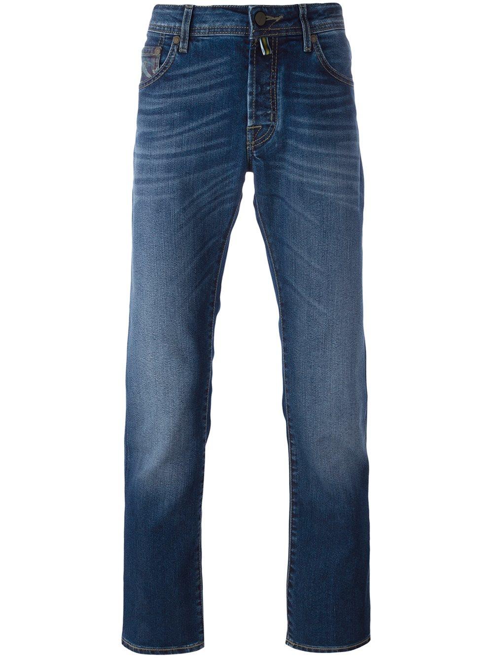 Lyst jacob cohen tapered regular jeans in blue for men - Jacob cohen denim ...