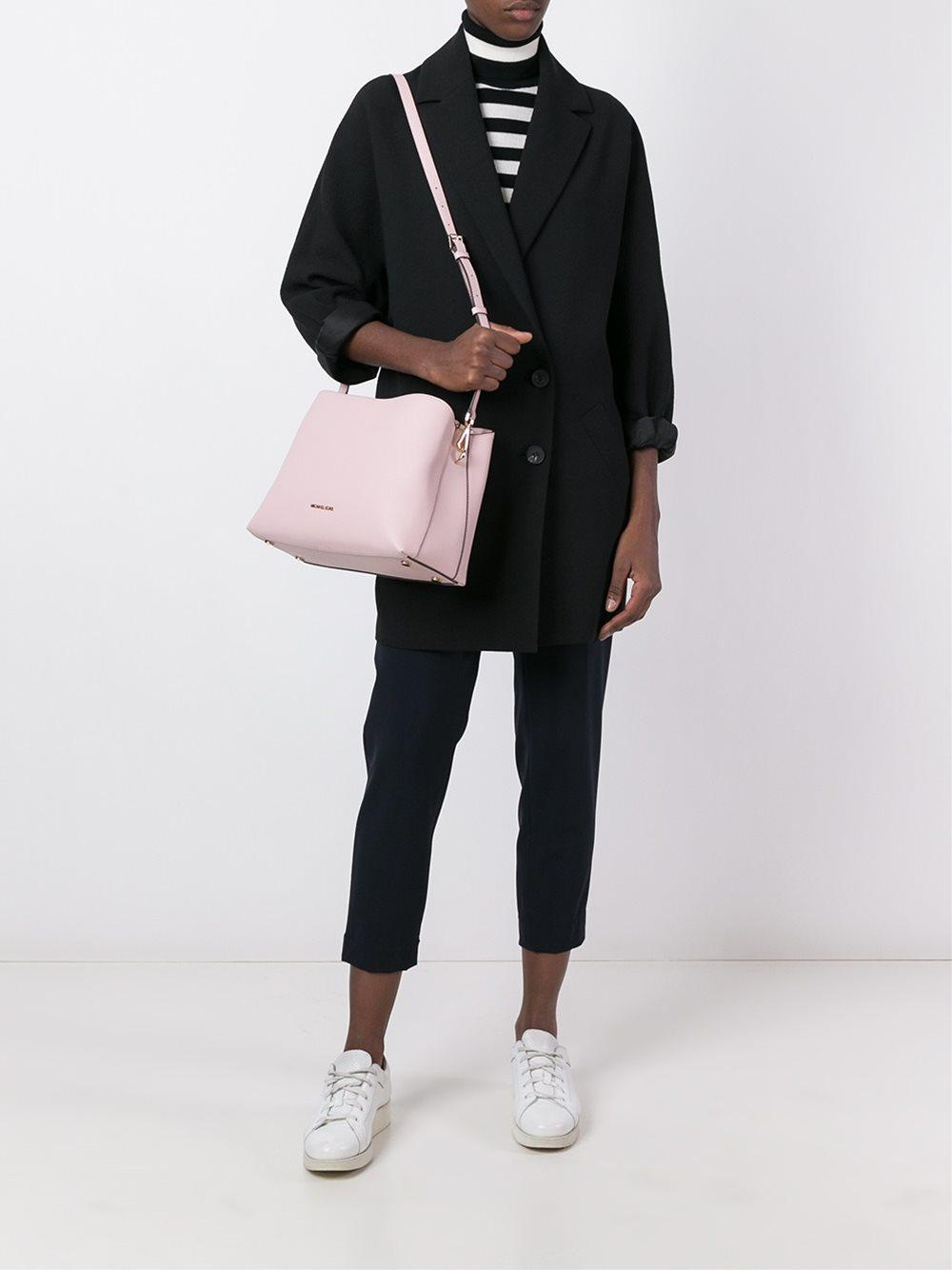 MICHAEL Michael Kors Leather Tote Bag in Pink/Purple (Pink)