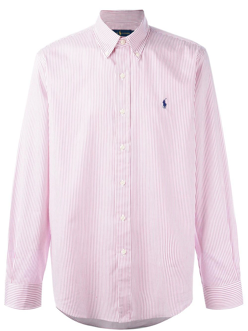 Lyst polo ralph lauren striped button down shirt in for Striped button down shirts for men
