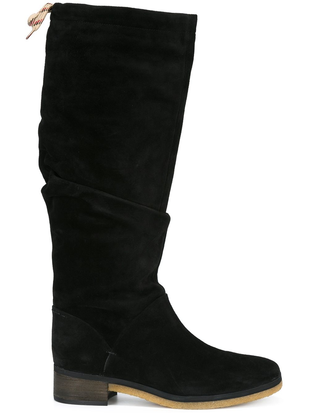 see by chlo see by chlo 39 jona 39 flat knee boots in black lyst. Black Bedroom Furniture Sets. Home Design Ideas