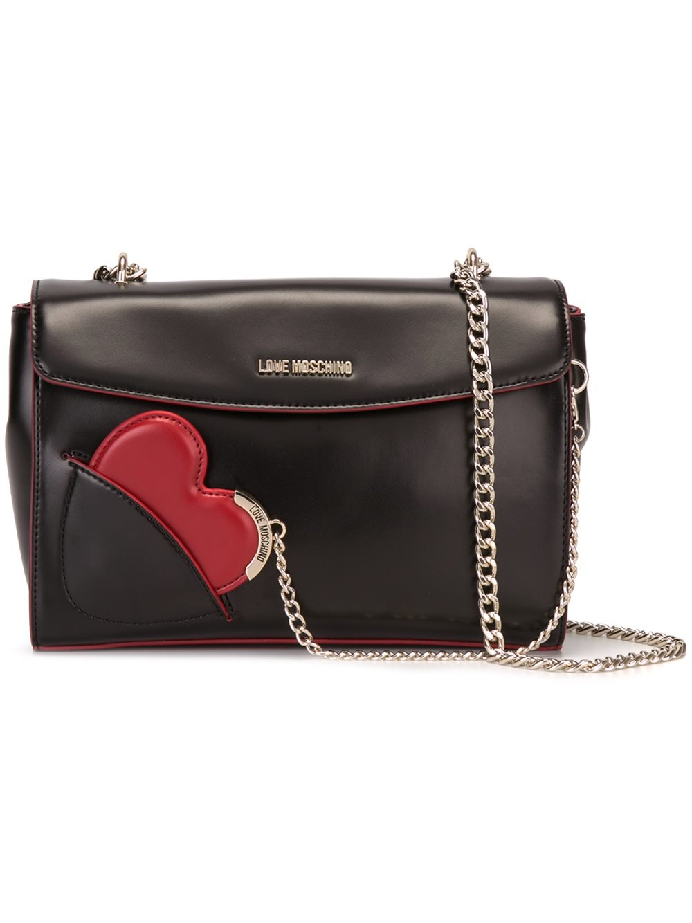 love moschino heart crossbody bag in multicolor black lyst. Black Bedroom Furniture Sets. Home Design Ideas