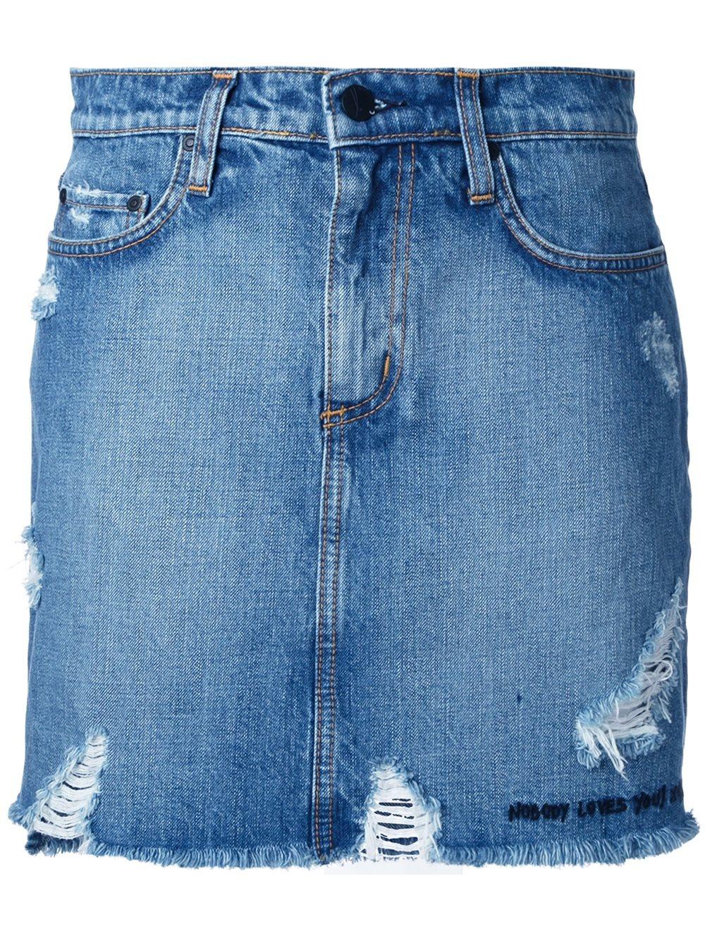 9e6724b64 Nobody Denim Split Skirt Graffiti in Blue - Lyst