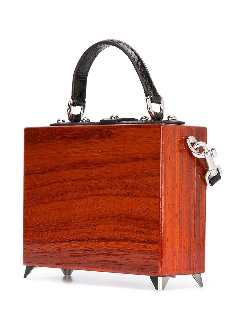 Dolce & Gabbana Leather Tv 'dolce' Box Tote in Brown