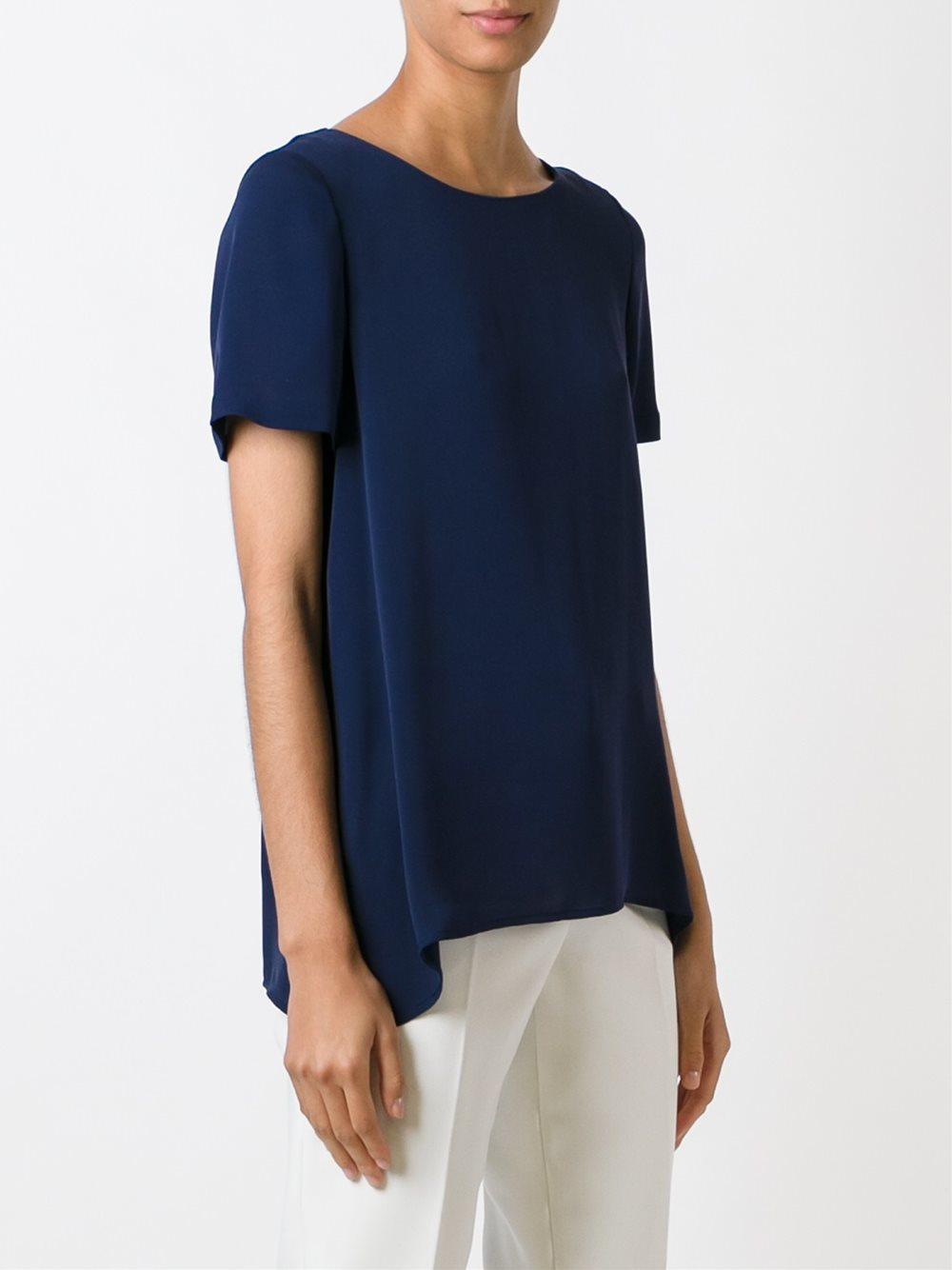Lyst diane von furstenberg plain t shirt women for Diane von furstenberg shirt