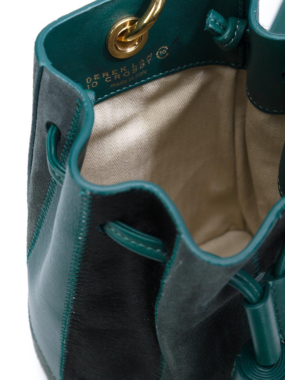 10 Crosby Derek Lam Leather Mini 'prince Bucket' Crossbody Bag in Green