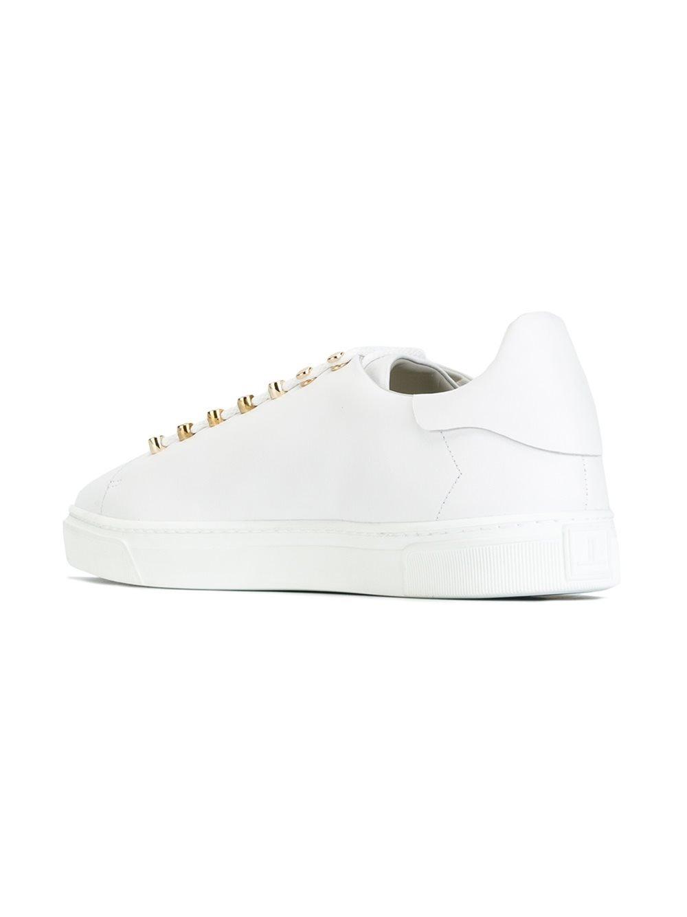 Louis Leeman Leather 'Biaor' Sneakers in White for Men