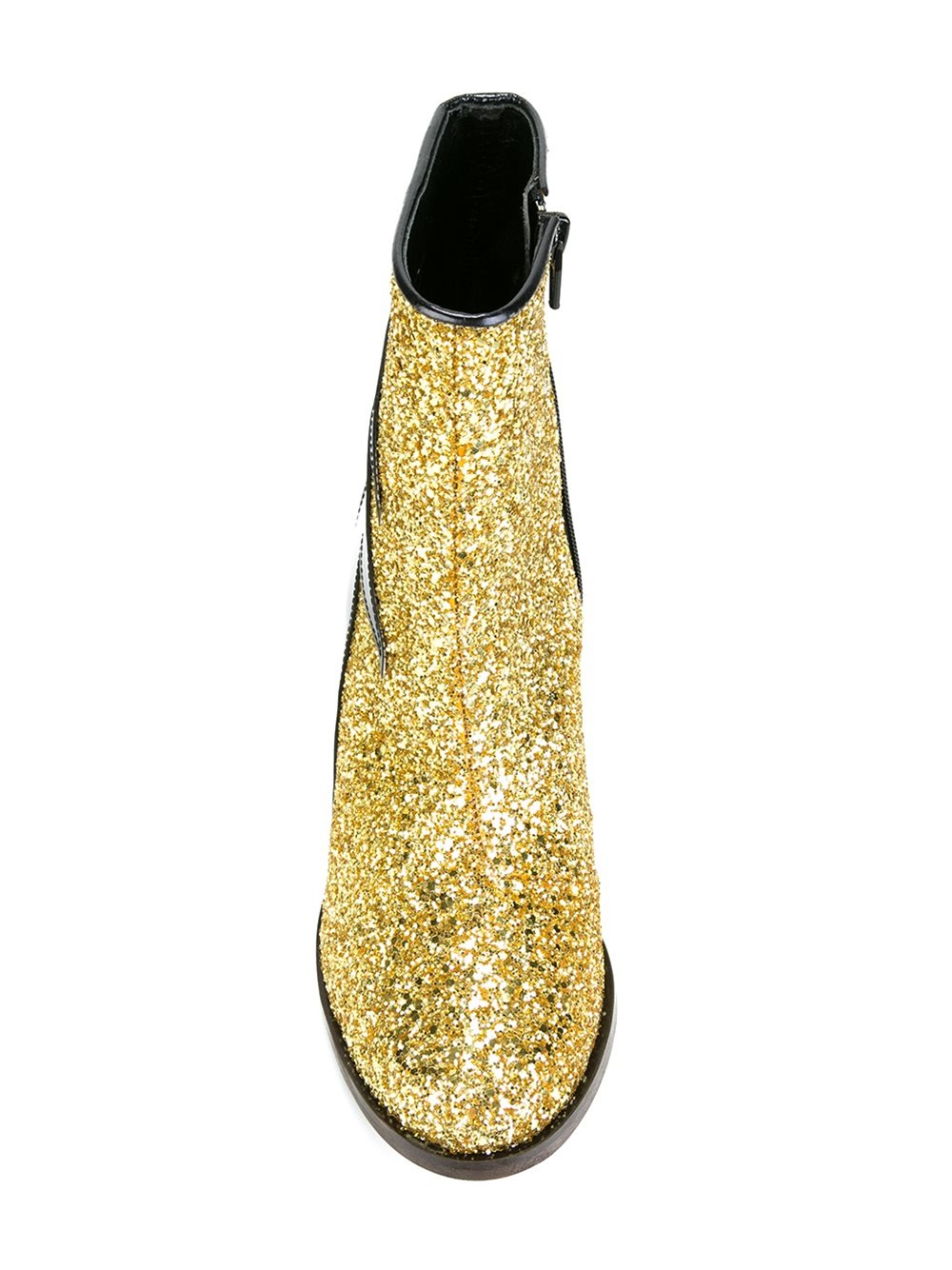 House Of Holland Glitter Effect Thunder Boots In Yellow Lyst