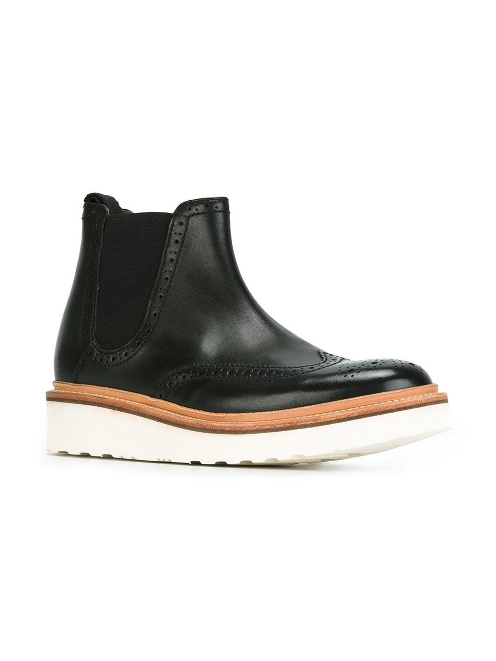 Grenson Leather 'alice' Boots in Black