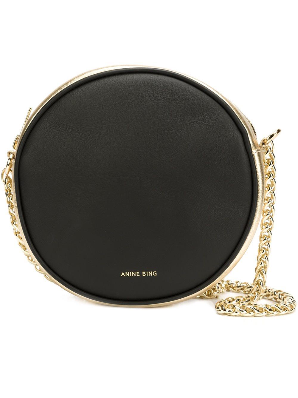 Anine bing 39brixton39 shoulder bag in black lyst for Bing bags for sale