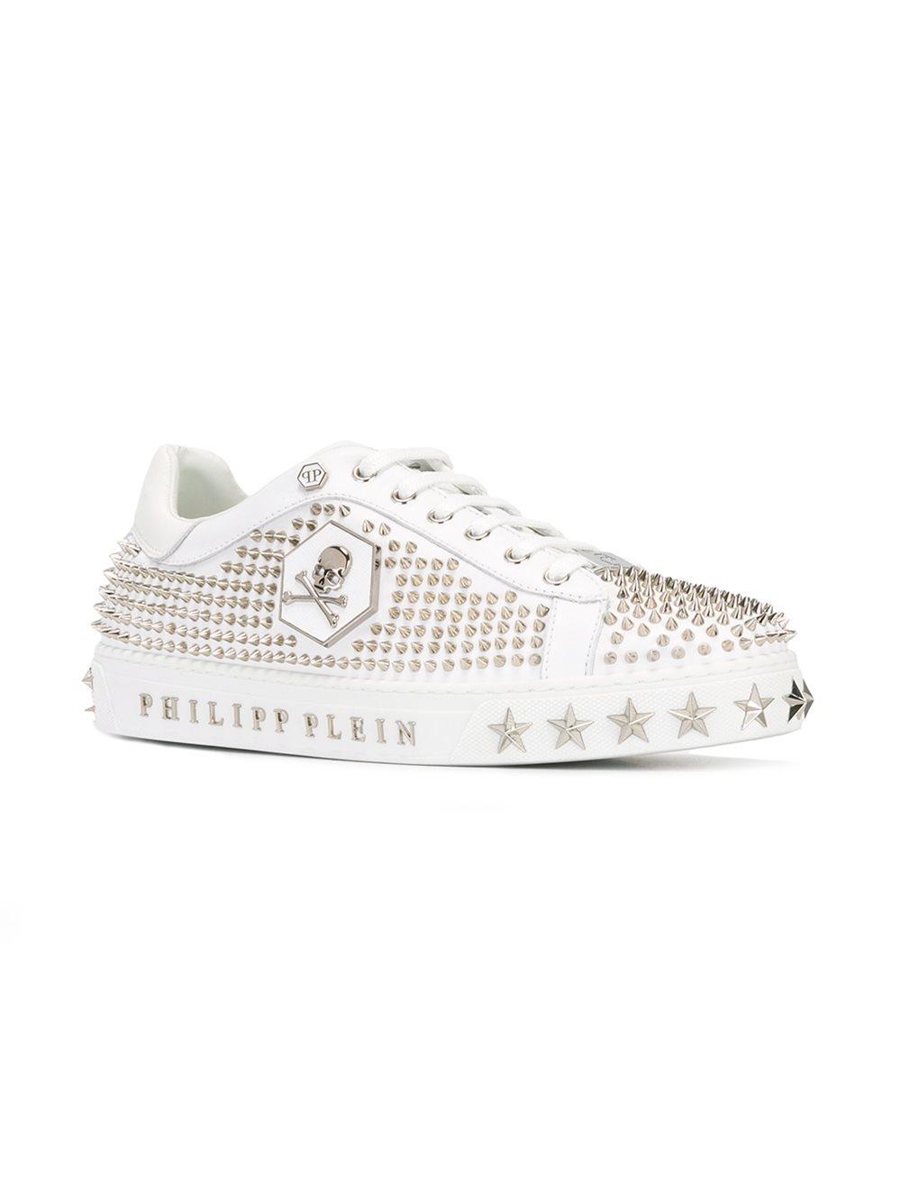 Philipp Plein Leather 'toronto City' Sneakers in White