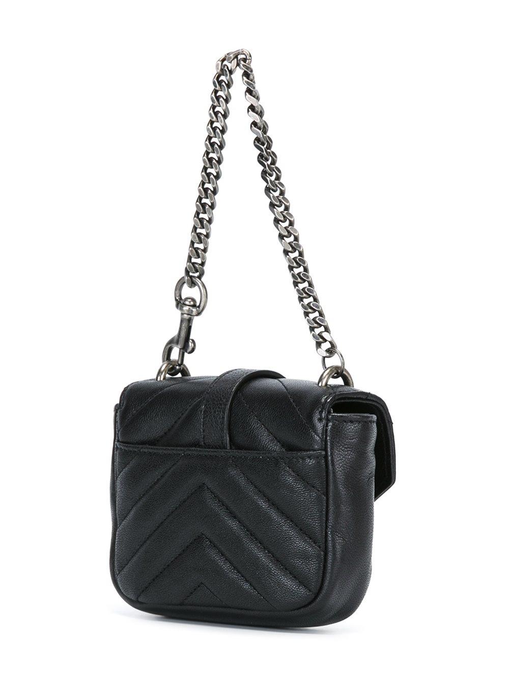 Saint Laurent Mini College Leather Bag In Black Lyst