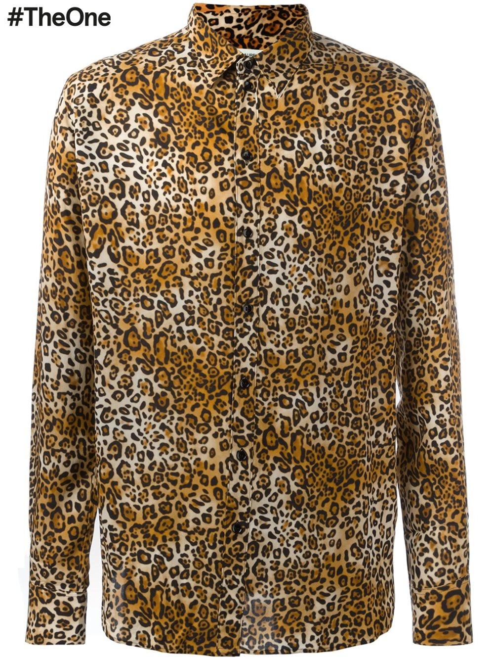 fc4dcfe6 Saint Laurent - Multicolor Leopard Print Shirt for Men - Lyst